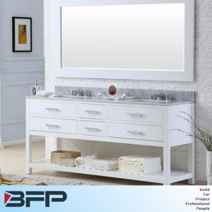White Oak Classical Double Basin Many Drawers for Project pictures & photos