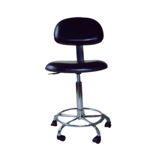 Height Adjustable ESD Cleanroom PU Leather Chair for Work Shop pictures & photos