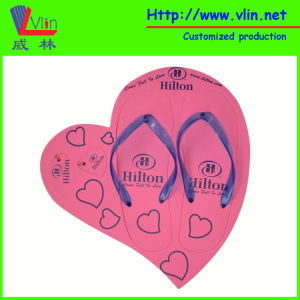 Heart Frame Board Sandal/Flip Flop with Floatable Keychains pictures & photos