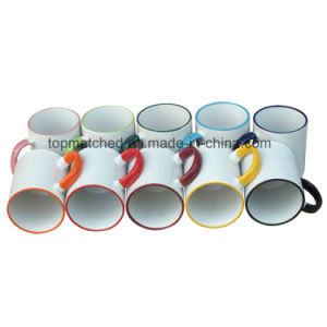 11oz Ceramic Sublimation Coffee Mugs with Color Rim&Handle pictures & photos
