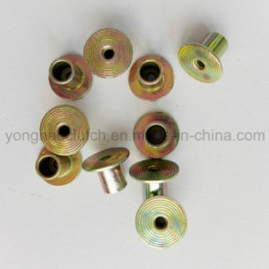 6X6mm Zinc Yellow Plated Full Hollow Clutch Facing Rivets