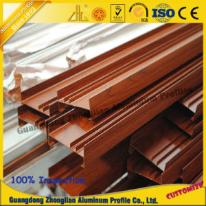 Aluminium Sliding Window Profiles with Wood Grain pictures & photos