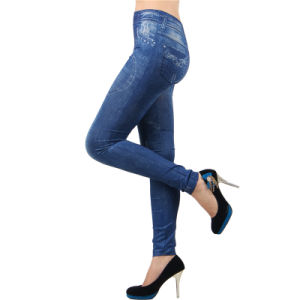 Heart Shape Low Price High Quality Jean Sexy Leggings pictures & photos