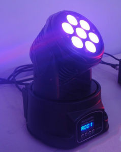 7*12W RGBW 4in1 LED Moving Head Wash Light pictures & photos