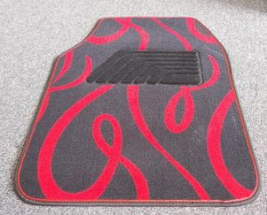 Anti Slip Carpet Flat Foot Car Mats with Ribbon Pattern pictures & photos