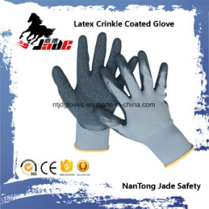 13G Nylon Palm Latex Crinkle Coated Industrial Glove pictures & photos