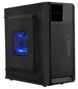 Unique Panel Design ATX PC Case with High Gloss Panel Desktop Computer Case (D345) pictures & photos