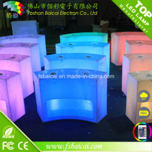 Commercial Event Furniture Lighted LED Light Bar Counter