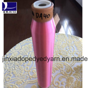 25D/1f Dope Dyed Polyester Monifilament Drwan Yarn pictures & photos