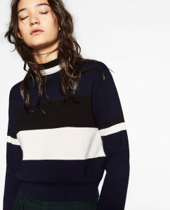 Fashioned Women High Collar Knitting Sweaters pictures & photos
