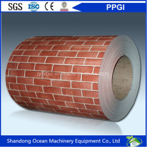 Environmetal Protection Prepainted Galvanized Steel Coils / PPGI Steel Coils of Printed Pattern of Wood / Marble / Brick / Camouflage / Diamond Embossed pictures & photos