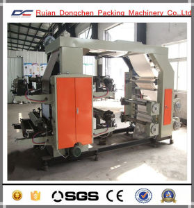 Flexo Printing Machine with Cutting Machine Inline for Paper Rolls (DC-YT600) pictures & photos