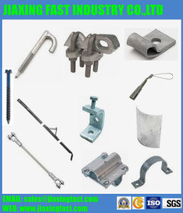 Electronic Components / Alley Arm Brace/Masonry Screw/Auxiliary Anchor Eye/Beam Clamp/Cable Guard Strap/Clevis Bolt/Crossover Clamp/Drive Hook/Shackle pictures & photos