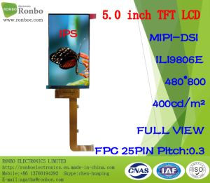 """5.0"""" IPS 480*800 Mipi 25pin High Luminance 400CD/M2 TFT LCD Screen pictures & photos"""