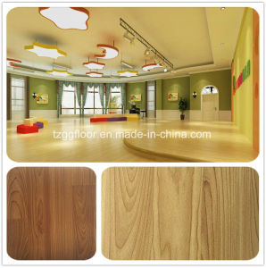 Wood Grain Color Decorative PVC Kitchen Floor Sticker Wood Grain Vinyl Flooring pictures & photos