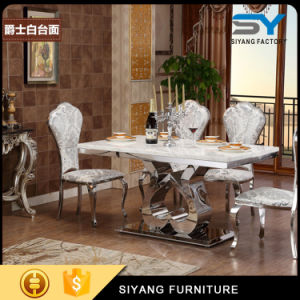 Stainless Steel Feet Marble Dining Table Stainless Steel Table pictures & photos