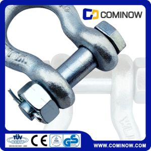 Hot Dip Galvanized G2130 Type Bow Shackle With Colored Pin pictures & photos