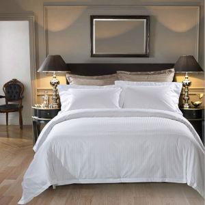 Plain White Satin Cotton Hotel Bed Linen/Duvet Cover pictures & photos