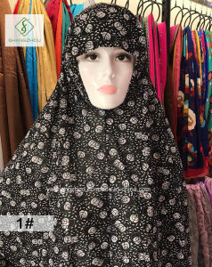 100% Polyester 100cm*110cm Hot Sale Fashion Moslem Printed Sleeve Cap pictures & photos