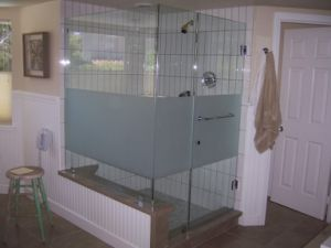 Toughened Acid Etched Glass for Bathroom Door pictures & photos