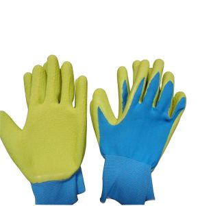 Lady′s Gardening Gloves Latex Coated Work Glove pictures & photos