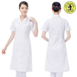 Factory Fashionable Lab Coat Unisex White Cotton Medical Hospital Uniform pictures & photos