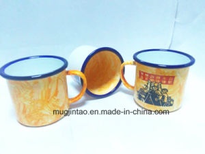 Factory Wholesale Hand Paintings Enamel Mug Beer Mug Coffee Mug for Outdoors for Advertisement 8oz 10oz pictures & photos