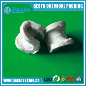 Ceramic Berl Saddle Ring Industrial Ceramic Tower Packing pictures & photos