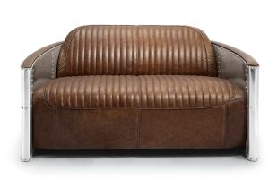 Aviator Tom Sofa, Aluminum Armrest Sofa, Brown Vintage Leather Sofa Yh-187 pictures & photos