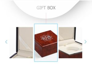 Elegant Waterproof High Glossy Lacquer Reddish Wooden Gift Packing Box pictures & photos