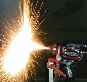 Sobsonic Low Velocity Flame Spray Wire Spraying System Stainless Steel Aluminum Copper Zinc and Carbon Steel
