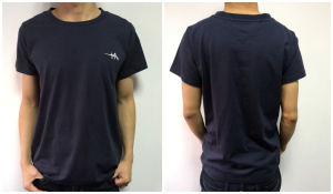 High Quality Men Garment Cotton Tshirt with Knitted Logo pictures & photos