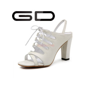 China Manufacture Wholesale Ladies High Heel Sandals Shoes pictures & photos