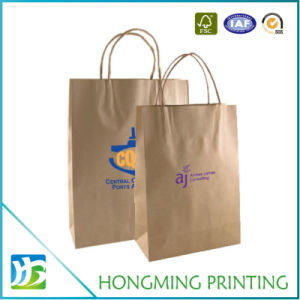 Cheap Custom Made Brown Paper Food Bag pictures & photos
