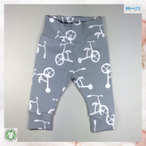 Spring Baby Clothing Grey High Waist Baby Pant pictures & photos