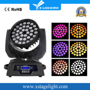 36*18W RGBWA (UV) 6in1 LED Zoom Beam Moving Head Wash DJ Light pictures & photos