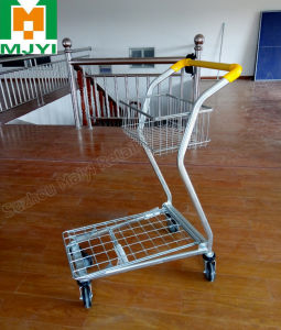 Shopping Cart with Plastic Basket Trolley pictures & photos