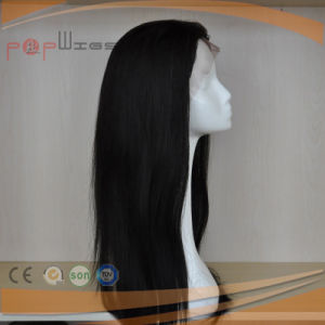 Human Hair Front Lace Hand Tied Full Remy Hair Natural Color Wig pictures & photos