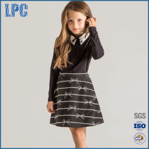 Hot Sale Two-Piece Outfit Printed A-Line Skirt School Uniform pictures & photos