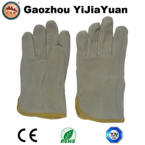 Pig Top Grain Leather Rigger Safety Work Gloves pictures & photos