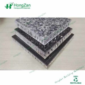 Real Stone Paint Constructive Aluminum Honeycomb Panel for Wall Decoration pictures & photos