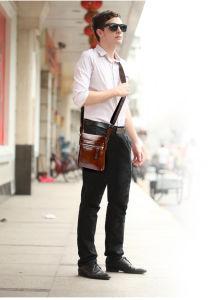 Casual Male Bag, Leather Shoulder Bag, Vertical Inclined Shoulder Bag, Polo Small Bag, Men′s Leather Bag pictures & photos