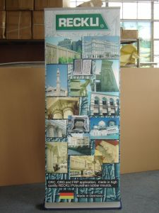 Aluminum Roll up Banner Stand with Plastic Side Cover pictures & photos