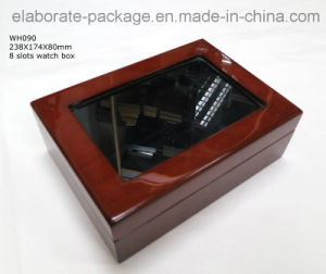 Handmade Trendy Watch Box 8 Slots Wood Display Case with Window pictures & photos