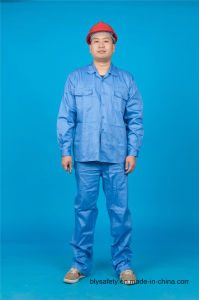 High Quality 65% Polyester 35%Cotton Long Sleeve Safety Suit Workwear (BLY2004) pictures & photos