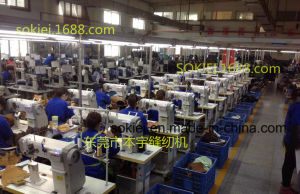 Computer Controller Industrial Roller Feed Post Bed Sewing Machine for Shoe Making pictures & photos