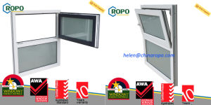 PVC Sound Insulation Residential Window, High Energy-Efficient Tilt and Turn Windows pictures & photos