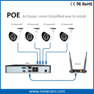 4CH Waterproof IR Poe CCTV Security IP Camera NVR Kits pictures & photos