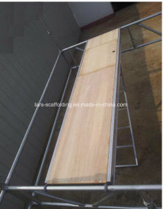 Aluminum/Plywood Hach Plank with Aluminum Ladder for Scaffolding pictures & photos