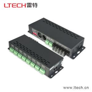 3A*24CH 1728W DMX512 Decoder DC5V 12V 24V Lt-880 Supermax Decoder DMX512 Lighting Controller